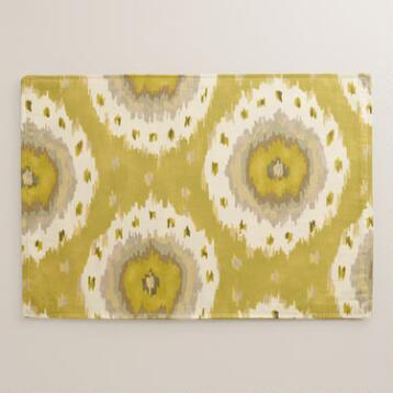 Citrus Ikat Dot Placemats, Set of 4