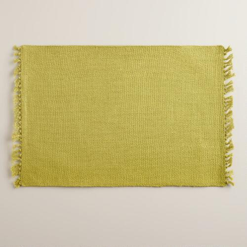 Oasis Green Herringbone Placemats, Set of 4