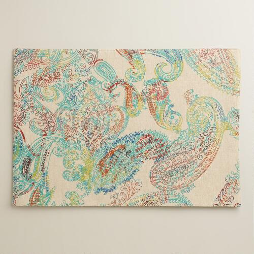 Multicolor Paisley Chambray Placemats, Set of 4