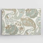 Blue Floral Paisley Placemats