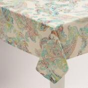 Multicolor Paisley Chambray Tablecloth