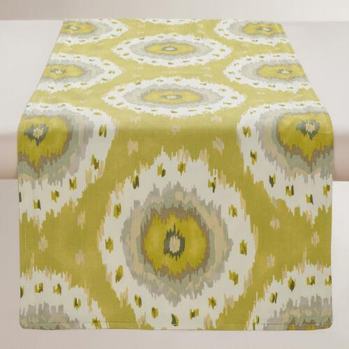 Citrus Ikat Dot Table Runner