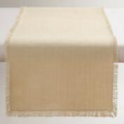 Oversized Ivory Herringbone Table Runner