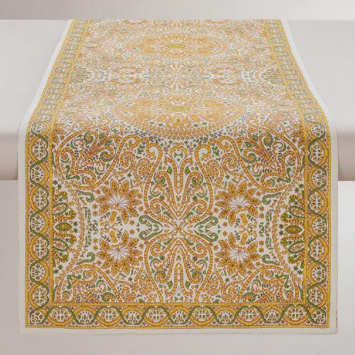 Yellow Dhaya Table Runner