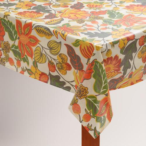 Floral Henri Oilcloth Tablecloth