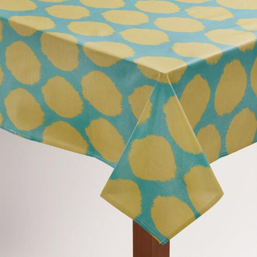 Ikat Dot Oilcloth Tablecloth