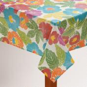 Bright Floral Oilcloth Tablecloth