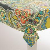Green Paisley Venice Tablecloth