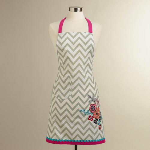 Flower Chevron Apron