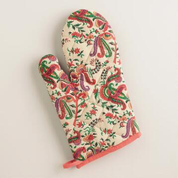 Multicolor Paisley Cleo Oven Mitt