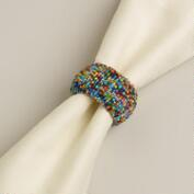 Multicolor Beaded Napkin Ring
