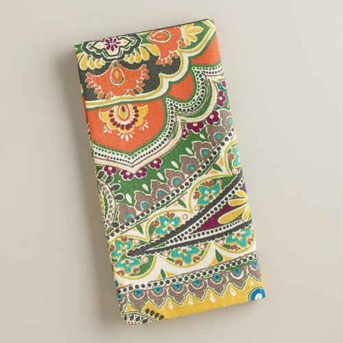 Green Venice Paisley Napkins, Set of 4
