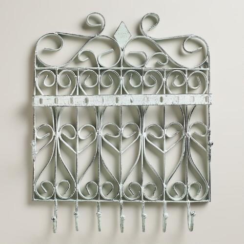 Green Gate Wall Jewelry Holder