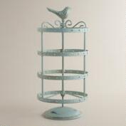 Green Spinning Bird Earring Holder