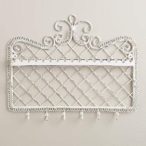 Whitewash Wall Jewelry Holder