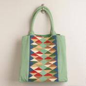 Mint Kilim Tote Bag