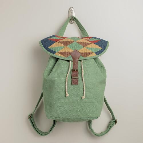 Mint Kilim Backpack