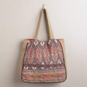 Red Ikat Bag