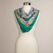 Green and Purple Square Scarf