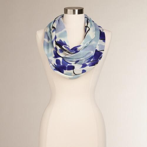 Blue Tulip Infinity Scarf