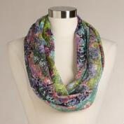 Multicolored Abstract Dot Infinity Scarf