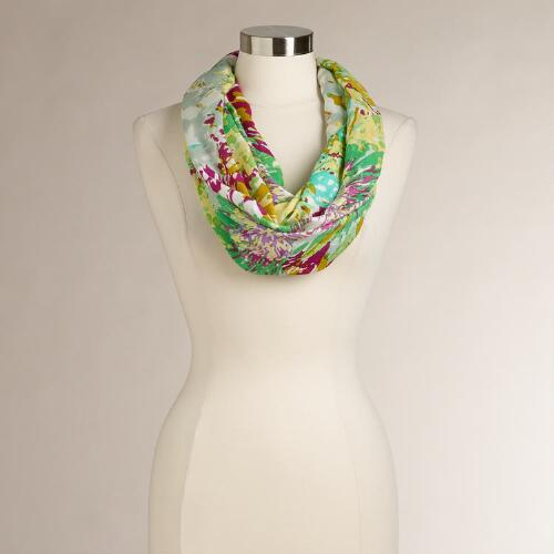 Green and Purple Art Infinity Scarf