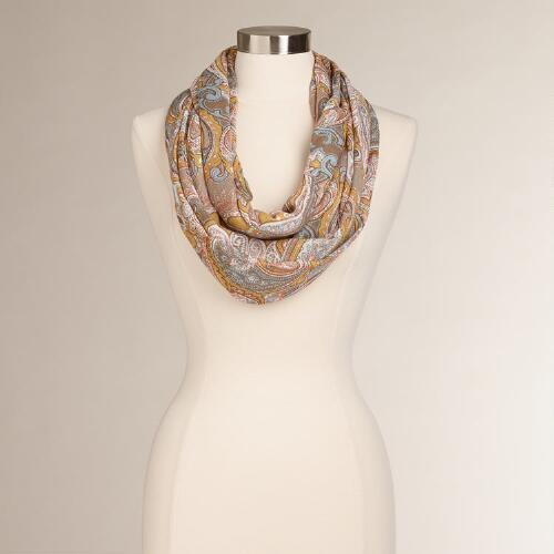 Pastel Paisley Infinity Scarf