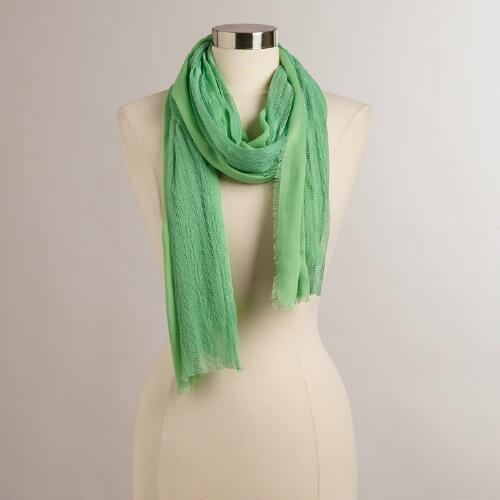 Mint Scarf with Lace