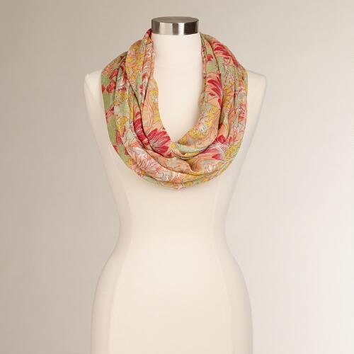 Spring Tulips Infinity Scarf
