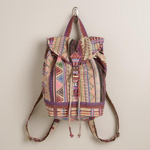 Pink Geometric Backpack
