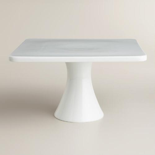 Tall White Square Cake Stand