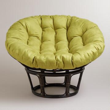 Oasis Green Micro Suede Papasan Chair Cushion