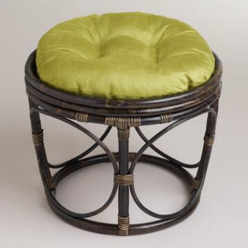 Oasis Green Micro Suede Papasan Stool Cushion