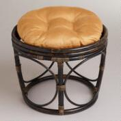 Amber Gold Micro Suede Papasan Stool Cushion