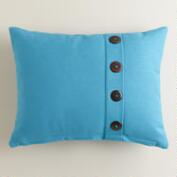 Blue Moon Button Ribbed Lumbar Pillow