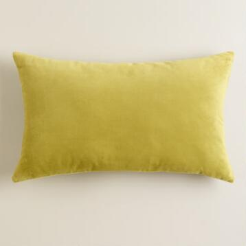Oasis Velvet Throw Pillow