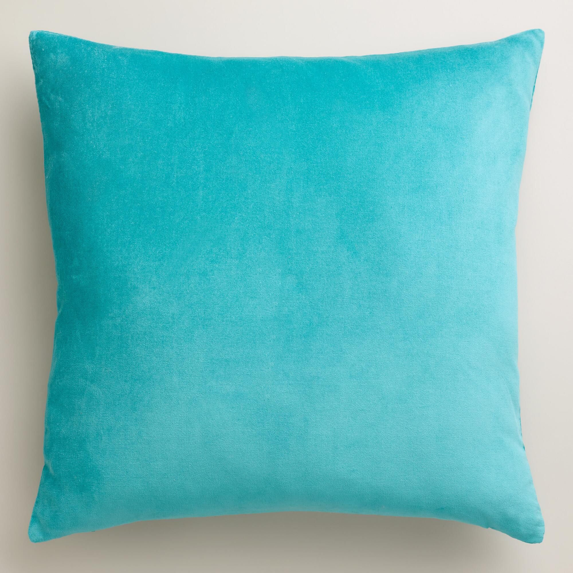 Aqua Velvet Throw Pillows World Market
