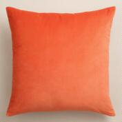 Koi Orange Velvet Throw Pillows