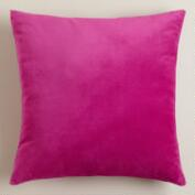 Fuchsia Velvet Throw Pillows
