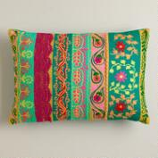 Multicolor Floral Lumbar Pillow