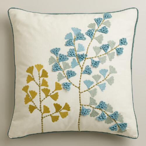 Gingko Throw Pillow