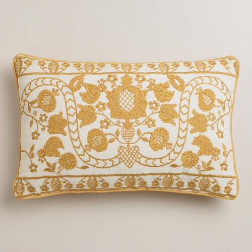 Yellow Mindhi Lumbar Pillow