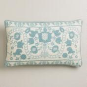 Blue Mindhi Lumbar Pillow