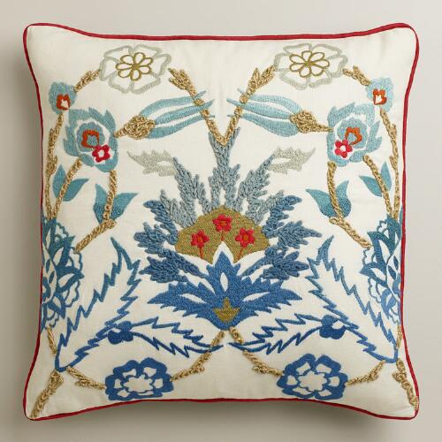 Floral Palampore Throw Pillow
