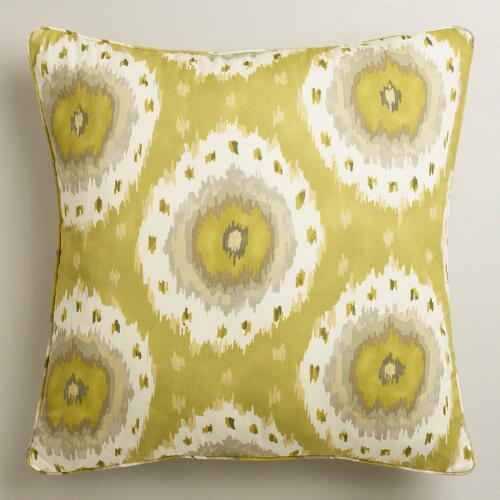 Citrus Ikat Throw Pillow