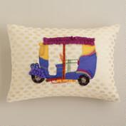 Rickshaw Embroidered Lumbar Pillow
