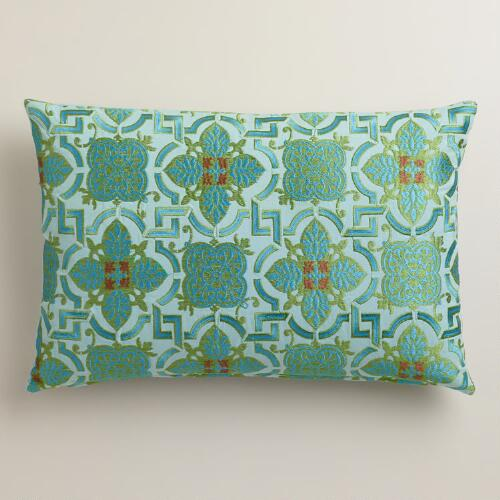 Arabesque Tile Lumbar Pillow