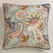 Paisley Lakeside Throw Pillow