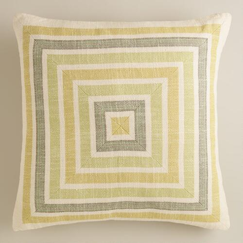 Oasis Striped Herringbone Throw Pillow