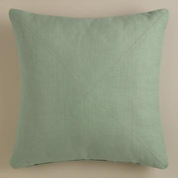 Blue Mist Herringbone Throw Pillow